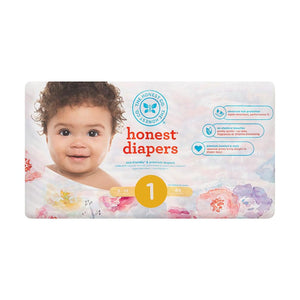 Rose Blossom - Size 1 Honest Diapers