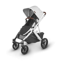 UPPAbaby VISTA V2 Stroller - Bryce (White Marl/Silver/Saddle Leather) Angle