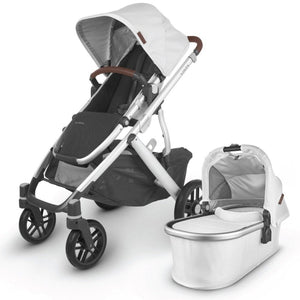 UPPAbaby VISTA V2 Stroller - Bryce (White Marl/Silver/Saddle Leather)