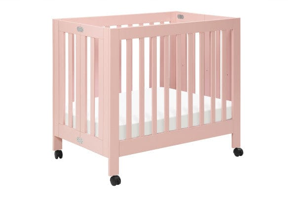 Babyletto Origami Collapsible Mini Crib - Petal Pink