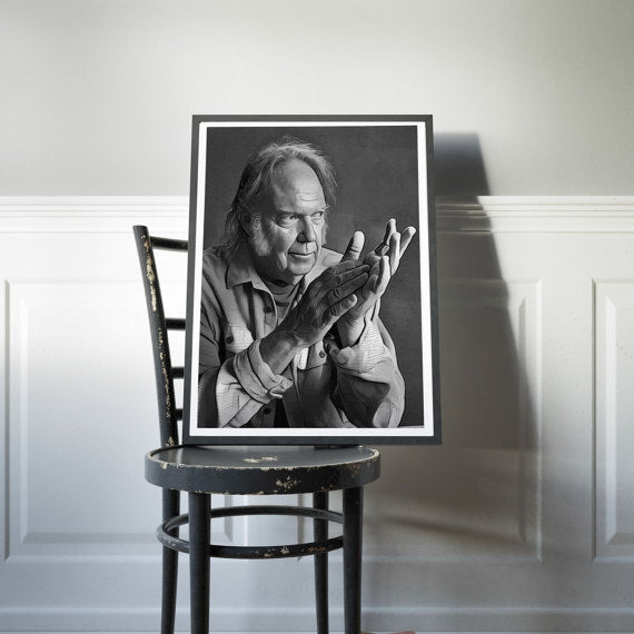 Neil Young Canvas Poster