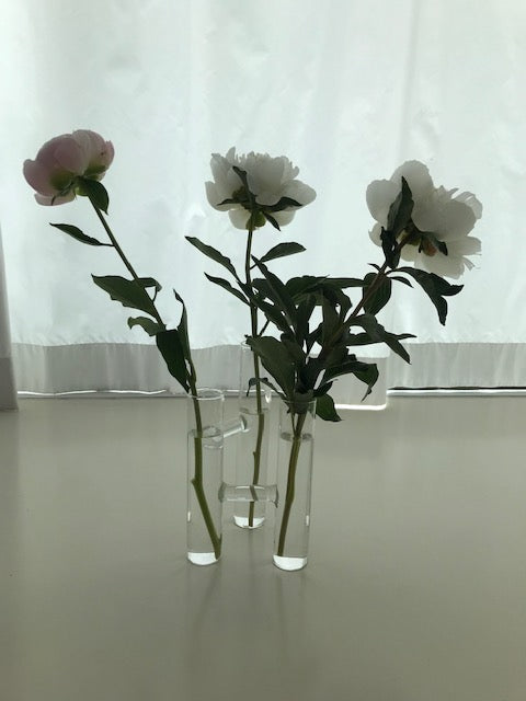 Triptych glass vase