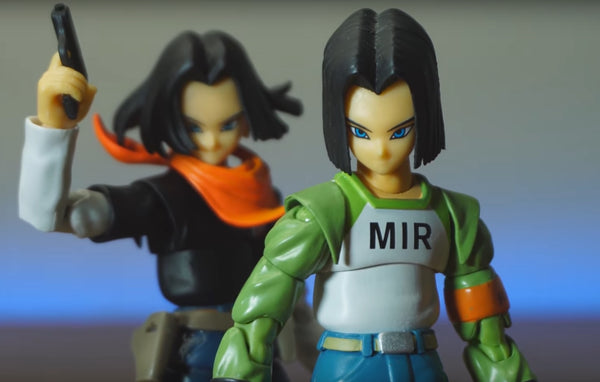 Class E Adventurer 2-Pack (SHF Android 17 Clone and Custom) - New Packaging