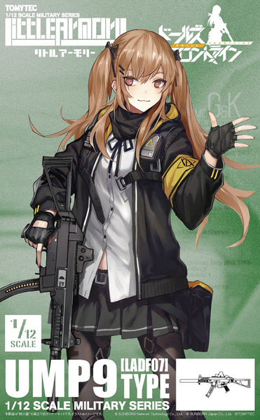TOMYTEC's Little Armory Girls' Frontline LADF07 UMP9 Rifle Model Kit