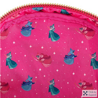 Loungefly Disney Sleeping Beauty Floral Fairy Godmothers Mini Backpack