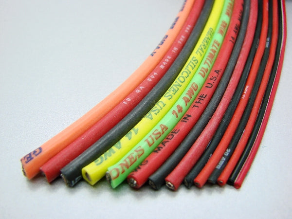 22awg 2-lead Red/Black Rx power wire