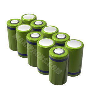 10010B-5 12v 10,000mah 10 cell NiMH D Pack
