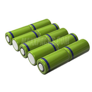 S4010F-3 12v 4000mah 10 cell NiMH 4/3A 2X5 Pack