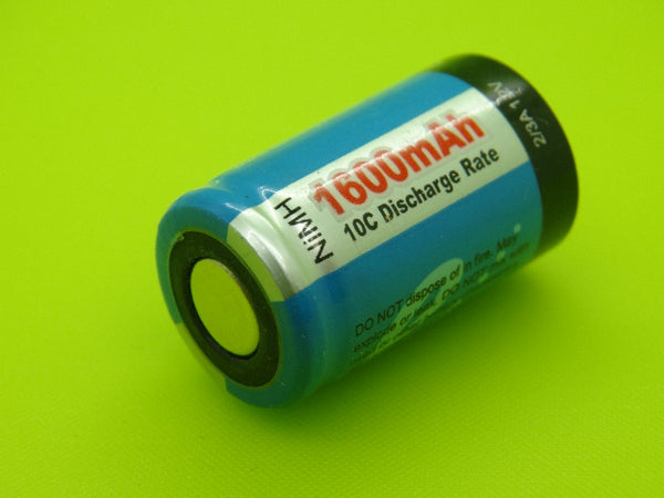 2/3 A 1600mAh TENERGY NIMH FLAT TOP CELL
