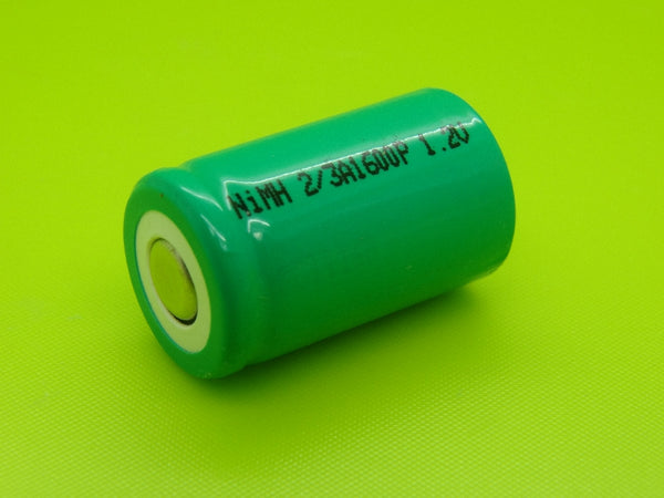 2/3 A 1600mAh NIMH AA PORTABLE FLAT TOP CELL