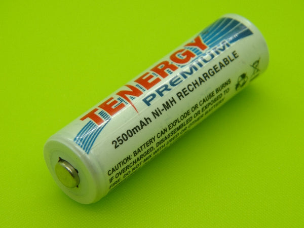 AA 2500mAh TENERGY NIMH BUTTON TOP CELL