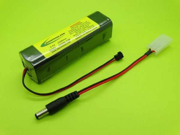 S2508B-33B 9.6v 2500mah TWICELL NiMH, old style JR black connector
