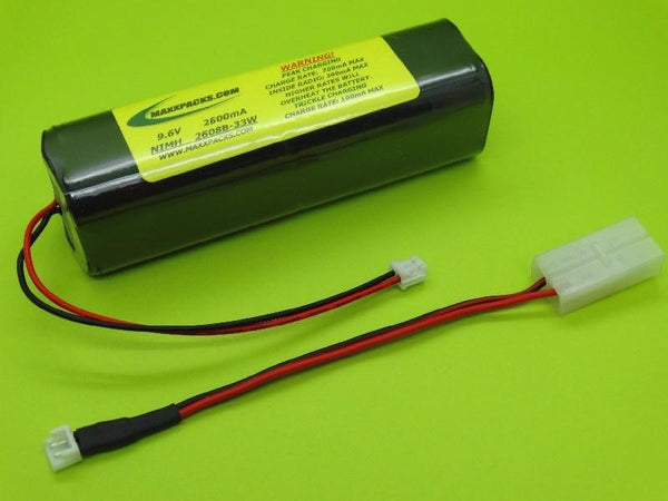 2608B-33W 9.6v 2600mah NiMH, new style JR white connector