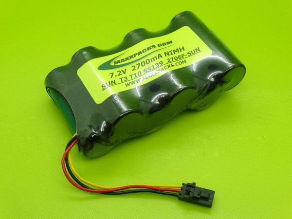2706F-SUN 7.2V 2700mah NiMH SS139 BATTERY FOR SUNRISE TELECOM SUNSET T3, T10