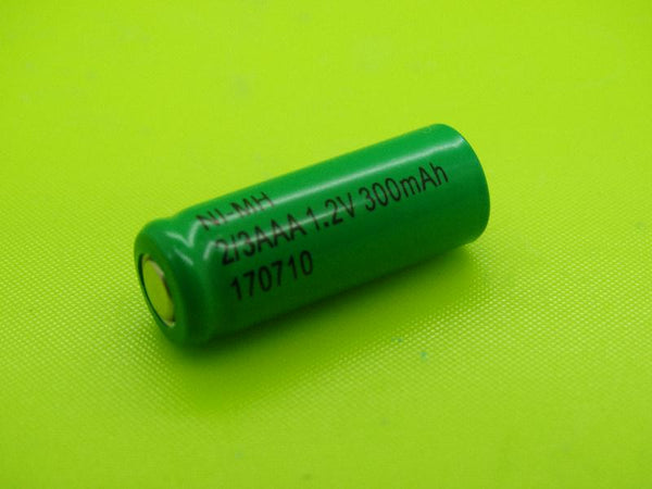 2/3 AAA 300mAh NIMH FLAT TOP CELL