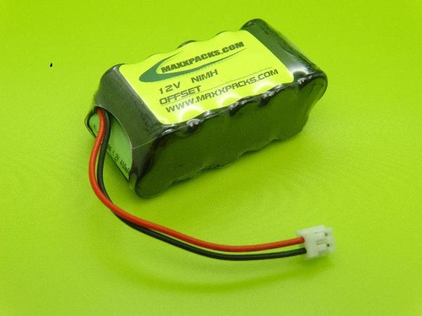 410B-O 12v 400mah NiMH 10 cell OFFSET AAA Pack JST CONNECTOR