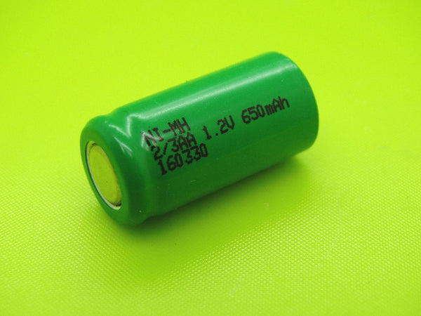 2/3 AA 650mAh NIMH FLAT TOP CELL