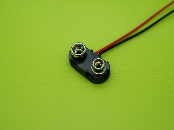 9V CONNECTOR - 20AWG SILICONEE WIRE 6""