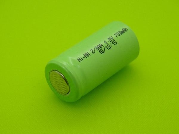 2/3 AA 700mAh KAN NIMH FLAT TOP CELL