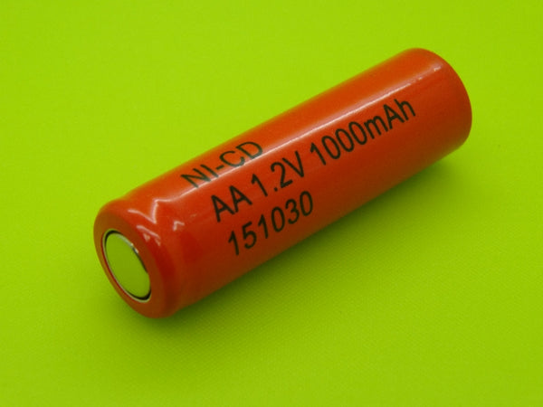 AA 1000mah Nicad Flat Top Cell