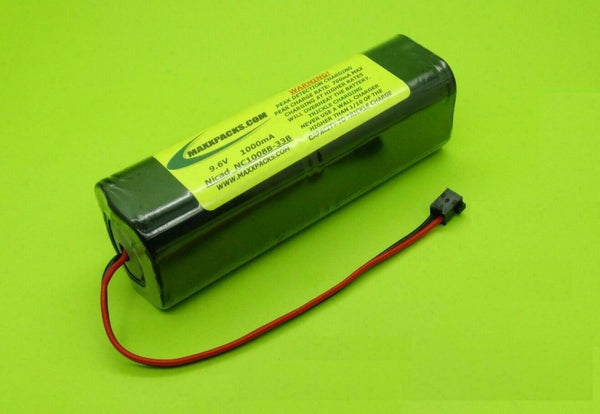 NC1008B-33B 9.6v 1000mah Nicad, old style JR black connector