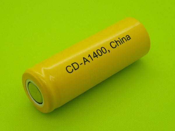 A 1400mah A Nicad Flat Top Cell