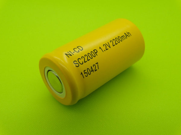 SC 2200mah Nicad Flat Top Cell