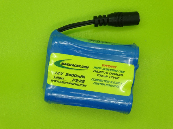 PANASONIC P3-XS 3400mA REPLACEMENT BATTERY FOR THE MINELAB SOVEREIGN XS
