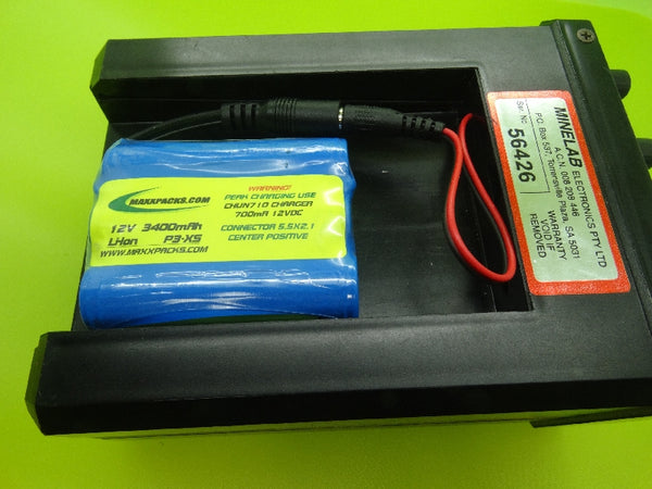 PANASONIC 3400mA BATTERY & CHARGER FOR THE MINELAB SOVEREIGN XS / MADE IN USA