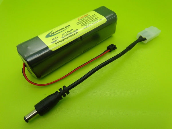 S2708B-33B 9.6v 2700mah NiMH, old style JR black connector