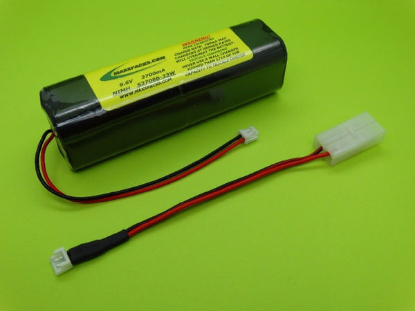 S2708B-33W 9.6v 2700mah NiMH, white connector