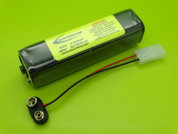 S2708B-9V 9.6v 2700mah NiMH, 9v connector- for JR Tx
