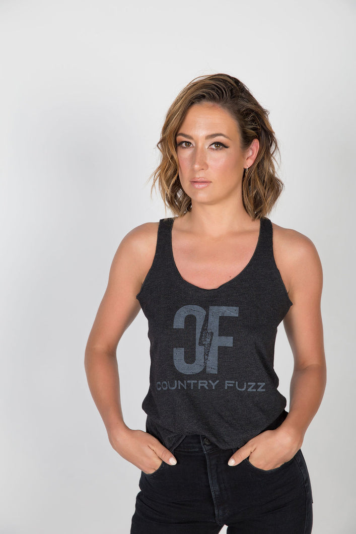 Country Fuzz Dark Grey Tank