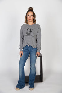 Country Fuzz Grey Sweatshirt