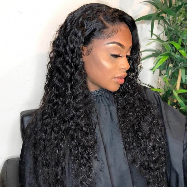 HD Transparent Lace Front Wig Virgin Hair Deep Wave - VHO World