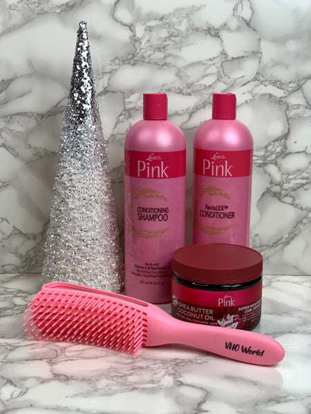 Luster' Pink Shampoo, Conditioner, & Curl Definer Set