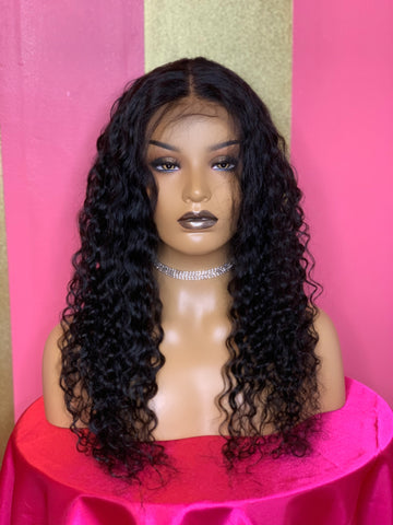1b Deep Wave Lace Front Wig