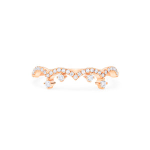 [Lacey] Chandelier Crown Diamond Band - Wedding Band - Michellia Fine Jewelry