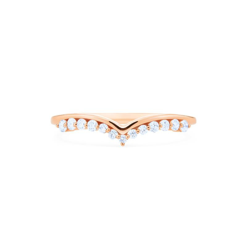 [Gracie] 11-Diamond Curved Band - Michellia Fine Jewelry