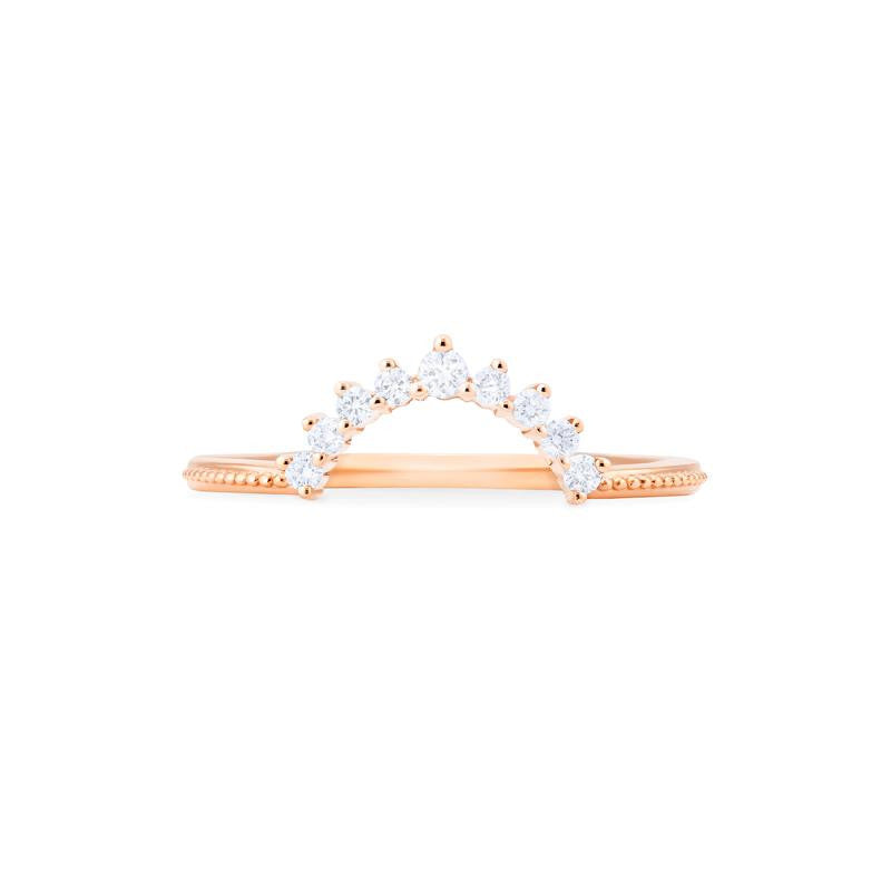 [Lunette] 9-Diamond Classic Wide Crown Band - Michellia Fine Jewelry
