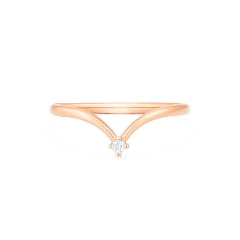 [Lesha] Moonrise Diamond Band - Wedding Band - Michellia Fine Jewelry