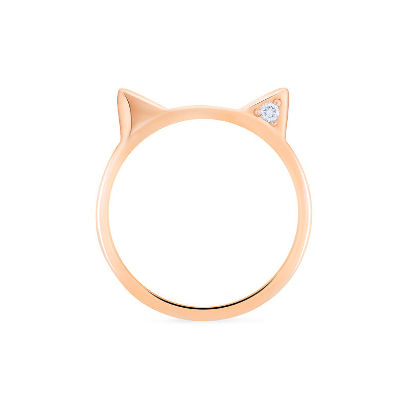 [Mia] Diamond Cat Ear Band - Women's Ring - Michellia Fine Jewelry