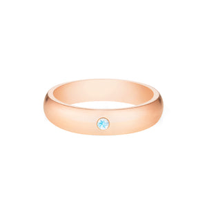 [Nolan] Men's Classic Comfort Fit Band with Outer Moonstone, 5mm - Men's Band - Michellia Fine Jewelry