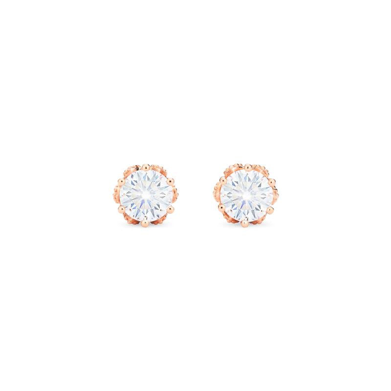 [Eden] Petite Floral Earrings in Moissanite - Michellia Fine Jewelry