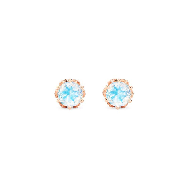 [Eden] Petite Floral Earrings in Moonstone - Michellia Fine Jewelry