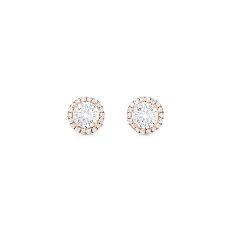 [Nova] Petite Halo Diamond Earrings in Moissanite - Earrings - Michellia Fine Jewelry