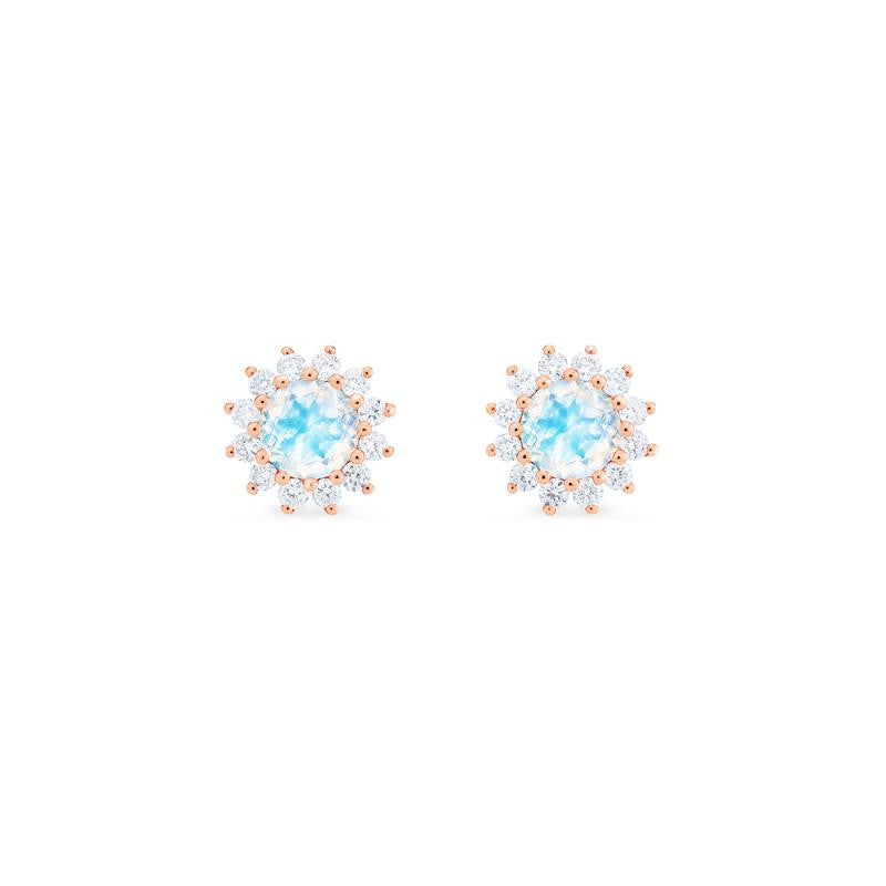 [Rosalie] Vintage Bloom Earrings in Moonstone - Earrings - Michellia Fine Jewelry