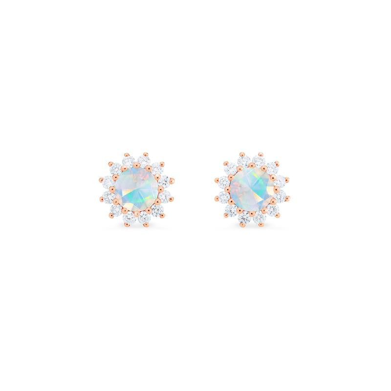 [Rosalie] Vintage Bloom Earrings in Opal - Earrings - Michellia Fine Jewelry
