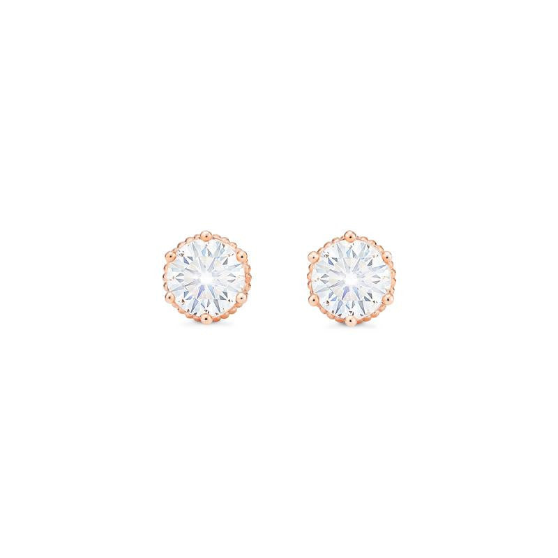 [Evelyn] Vintage Classic Crown Earrings in Moissanite - Michellia Fine Jewelry