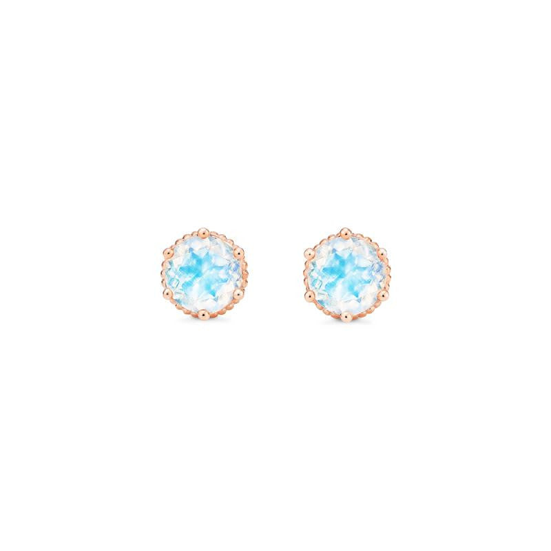 [Evelyn] Vintage Classic Crown Earrings in Moonstone - Michellia Fine Jewelry